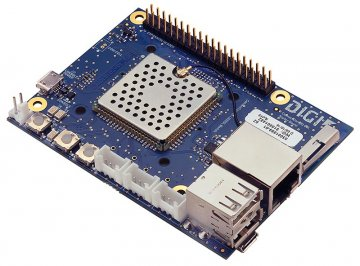 Digi ConnectCore 6UL SBC Express, i.MX6UL-2, 528 MHz, 256MB SLC NAND, 256MB DDR3, Single 10/100 Ethernet, 802.11a/b/g/n/ac, Bluetooth 4.2